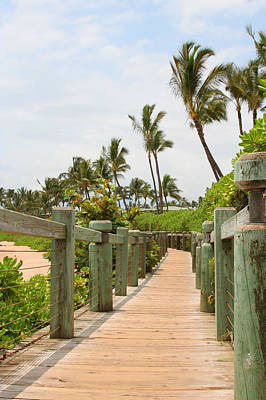 Photograph - Beach Walkway In Maui by John Orsbun