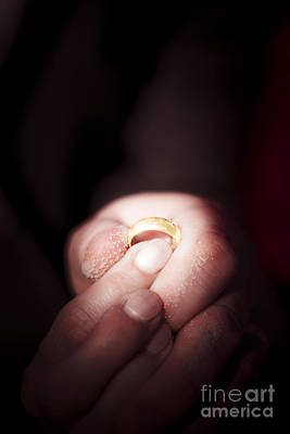 Gold Engagement Ring Photograph - Beach Wedding by Jorgo Photography - Wall Art Gallery