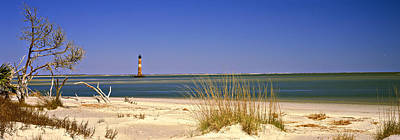 Morris Island Lighthouse Photograph - Beach With Lighthouse by Panoramic Images