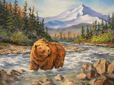 Painting - Bear Country by Gracia  Molloy