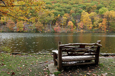 Benches Photograph - Bear Mountain, New York, United States by Julien Mcroberts