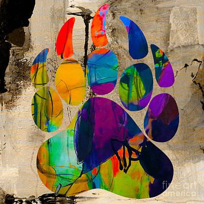 Polar Bear Mixed Media - Bear Print by Marvin Blaine