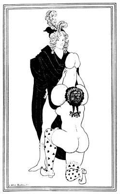 Turn Of The Century Drawing - Beardsley Lysistrata by Granger