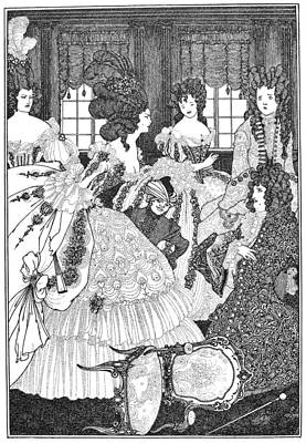 Beardsley: Rape Of Lock Art Print by Granger