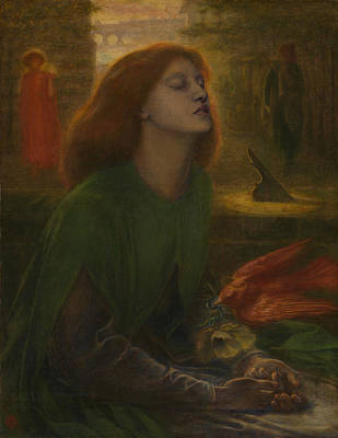 Beata Painting - Beata Beatrix by Dante Gabriel Rossetti