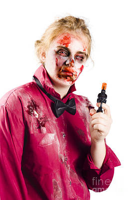 Monster Photograph - Beaten Woman Holding Handgun by Jorgo Photography - Wall Art Gallery