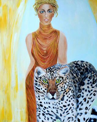 Painting - Beauties. Inspirations Collection. by Oksana Semenchenko