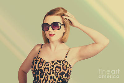 Photograph - Beautiful 80s Pinup Woman On Hairdressing Backdrop by Jorgo Photography - Wall Art Gallery