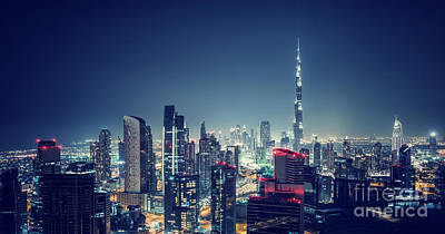 Photograph - Beautiful Dubai Cityscape by Anna Om