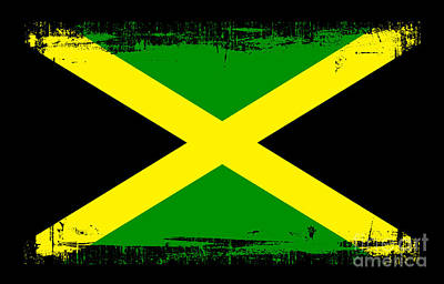 Jamaica Mixed Media - Beautiful Jamaica Flag by Pamela Johnson