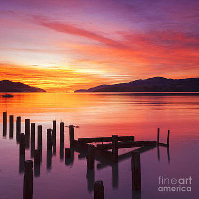 Harbour Photograph - Beautiful Sunset by Colin and Linda McKie