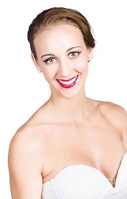 Youthful Photograph - Beautiful Woman Smiling by Jorgo Photography - Wall Art Gallery