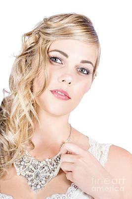 Beautiful Woman Wearing Jewelry Art Print