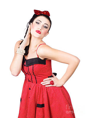 50s Photograph - Beautiful Young Pin-up Woman In Retro Fashion by Jorgo Photography - Wall Art Gallery