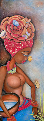 Painting - Beauty by Chibuzor Ejims