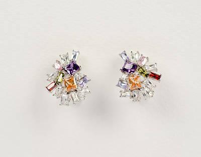 Gold Earrings Photograph - Beauty Earrings by Nikita Buida