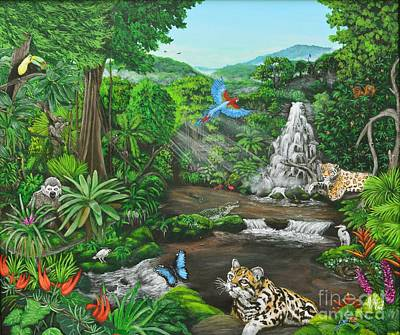 Sloth Painting - Beauty Of The Amazon by Jeremy Reed
