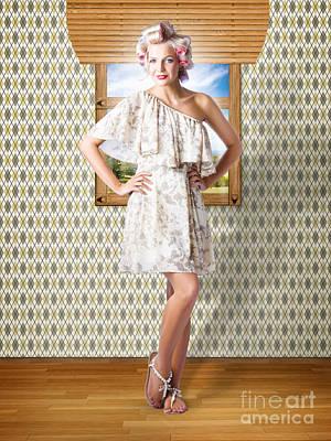 Beauty Photo Of Hair Makeup And Fashion Model Art Print