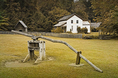Becky Cable Farm House In Cades Cove Art Print by Randall Nyhof