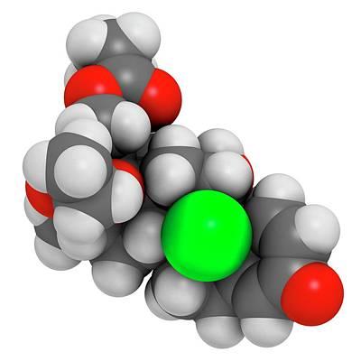 Chemical Photograph - Beclometasone Dipropionate Steroid Drug by Molekuul