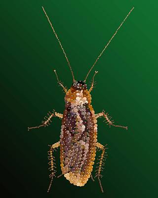 Digital Art - Bedazzled Roach by R  Allen Swezey