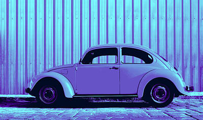Sheet Metal Photograph - Beetle Pop Lavender by Laura Fasulo
