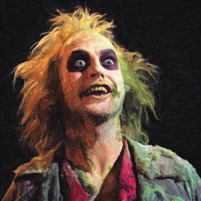 Rock And Roll Paintings - Beetlejuice by Zapista