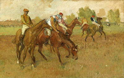 Before The Races Painting - Before The Race by Edgar Degas