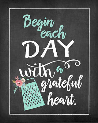 Begin Each Day Art Print