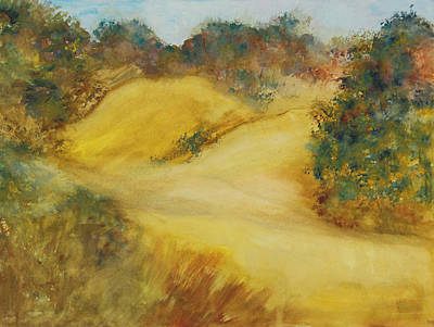 Monticello Painting - Beginning Of The Hike by Nancy Hilden