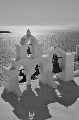 Bell Photograph - Belfry In Oia by George Atsametakis