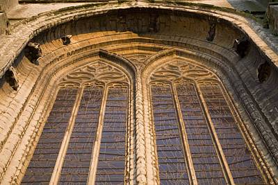 Coloured Glass Photograph - Belgium. Oudenarde. Sint-walburgakerk by Everett