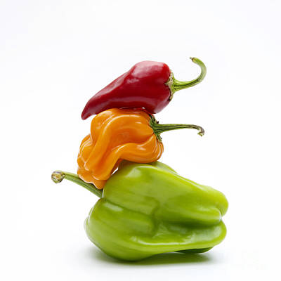 Chili Pepper Photograph - Bell Peppers by Bernard Jaubert