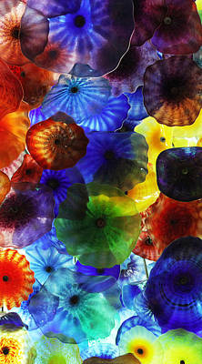 Photograph - Bellagio Glass Art Panel 2 Of 3 by Sheila Kay McIntyre