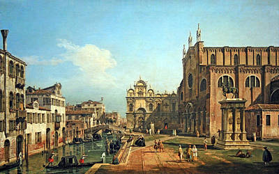 Bellotto's The Campo Di Ss. Giovanni E Paolo In Venice Art Print by Cora Wandel