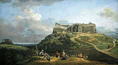 Photograph - Bellotto's The Fortress Of Konigstein by Cora Wandel