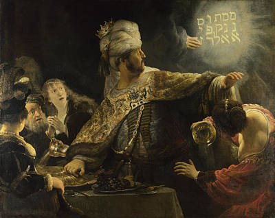 Belshazzar's Feast Art Print by Rembrandt