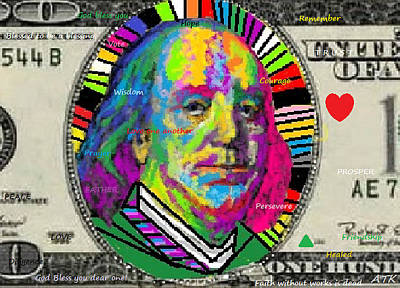 Digital Art - Ben Franklin by Ann Kipp
