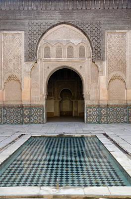 Madrasa Photograph - Ben Youssef Medersa Marrakech by Martin Turzak