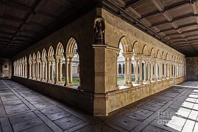 Gothic Photograph - Benedictine Gothic Cloister by Jose Elias - Sofia Pereira