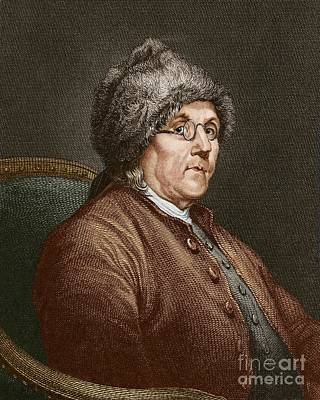 Benjamin Franklin 1706-90 Art Print by Sheila Terry