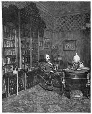 Bookshelf Painting - Benjamin Harrison (1833-1901) by Granger
