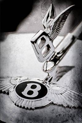 Old Bentley Photograph - Bentley Hood Ornament - Emblem by Jill Reger