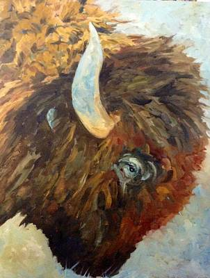 Painting - Benton Buffalo by Pat Crowther