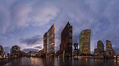 Berlin - Potsdamer Platz Panorama Art Print by Jean Claude Castor