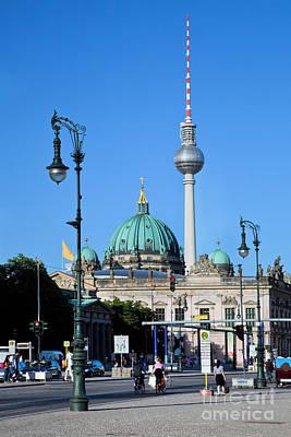 Berlin Cathedral And Tv Tower Art Print by Michal Bednarek