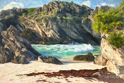 Bermuda Hidden Beach Art Print by Verena Matthew