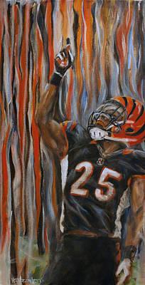 Athlete Painting - Bernard by Josh Hertzenberg