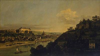 Bernardo Bellotto Painting - View Of Pirna From The Right Bank Of The Elba by MotionAge Designs