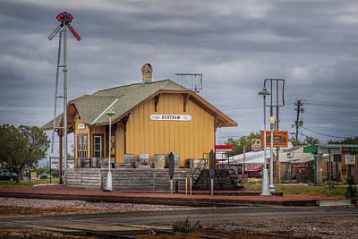 Photograph - Bertram Train Depot by David and Carol Kelly